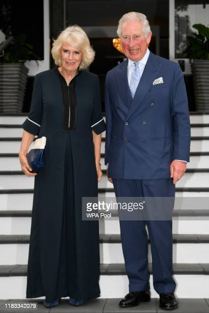 Prince Charles, Prince of Wales and Camilla, Duchess of Cornwall attend a reception hosted by Governor-General Dame Patsy Reddy at Government House...