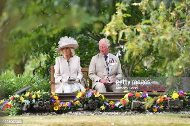 Prince Charles, Prince of Wales and Camilla, Duchess of Cornwall attend a national service of remembrance, marking the 75th anniversary of VJ Day, at...