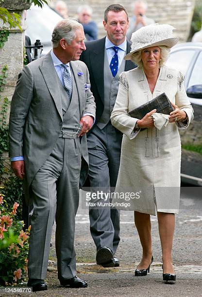 Prince Charles Prince of Wales and Camilla Duchess of Cornwall attend the wedding of Ben Elliot and MaryClare Winwood at the church of St Peter and...