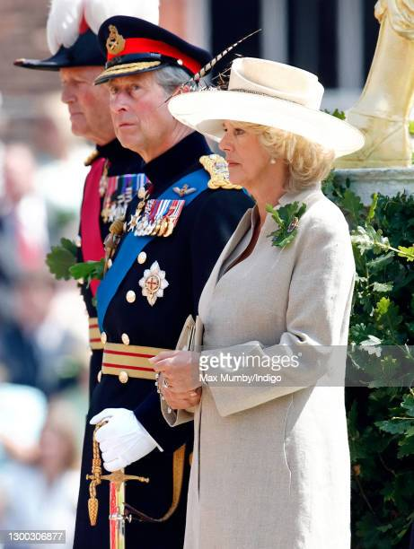 Prince Charles, Prince of Wales and Camilla, Duchess of Cornwall attend the annual Founder's Day Parade at the Royal Hospital Chelsea on June 9, 2005...