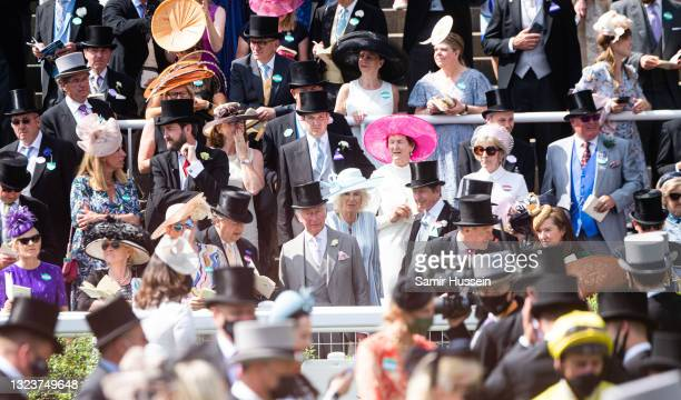 Prince Charles, Prince of Wales and Camilla, Duchess of Cornwall attend Royal Ascot 2021 at Ascot Racecourse on June 15, 2021 in Ascot, England.