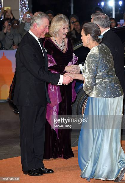 """Prince Charles, Prince of Wales and Camilla, Duchess of Cornwall attend The Royal Film Performance and World Premiere of """"The Second Best Exotic..."""