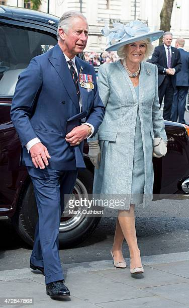 Prince Charles, Prince of Wales and Camilla, Duchess of Cornwall attend the VE Day 70th Anniversary sevice at Westminster Abbey on May 10, 2015 in...