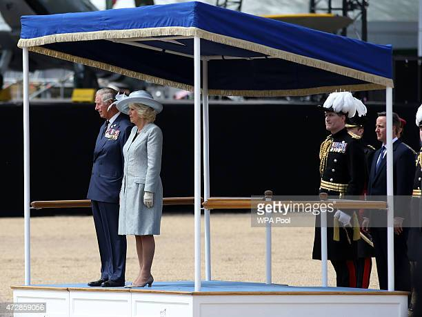 Prince Charles Prince of Wales and Camilla Duchess of Cornwall attend the VE Day Parade to mark the 70th anniversary of VE Day at Horse Guards Parade...