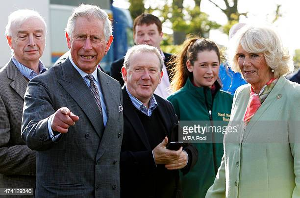 Prince Charles Prince Of Wales and Camilla Duchess of Cornwall attend the Sligo Races at Sligo Racecourse on day two of a four day visit to Ireland...