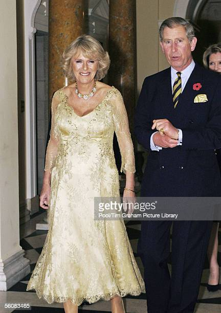 TRH Prince Charles Prince of Wales and Camilla Duchess of Cornwall attend a reception at the Ambassador's Residence on November 3 2005 in Washington...