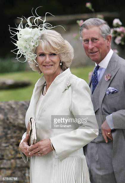 Prince Charles Prince of Wales and Camilla Duchess of Cornwall attend the wedding of the Duchess' daughter Laura ParkerBowles to Harry Lopes at St...
