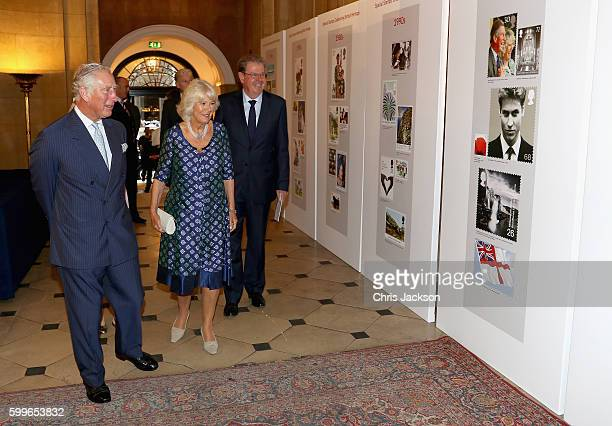 Prince Charles Prince of Wales and Camilla Duchess of Cornwall attend a reception to mark the 500th Anniversary of the Royal Mail at Merchant...
