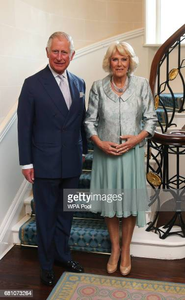 Prince Charles Prince of Wales and Camilla Duchess of Cornwall attend a Music Words for a Spring Evening at Hillsborough Castle during their visit to...