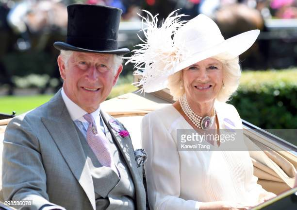 Prince Charles Prince of Wales and Camilla Duchess of Cornwall attend Royal Ascot 2017 at Ascot Racecourse on June 20 2017 in Ascot England