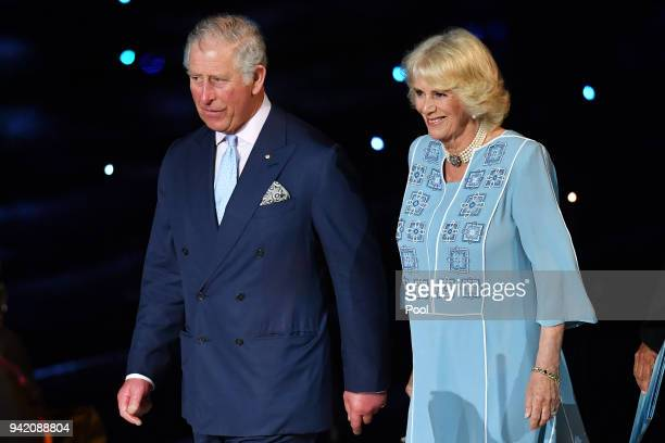 Prince Charles Prince of Wales and Camilla Duchess of Cornwall attend the 2018 Commonwealth Games Opening Ceremony at Carrara Stadium on April 4 2018...