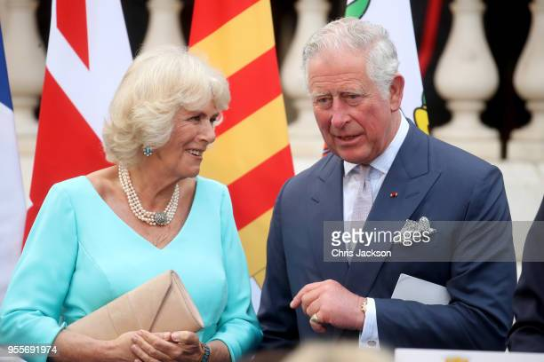 Prince Charles Prince of Wales and Camilla Duchess of Cornwall attend an evening reception at Villa Massena on May 7 2018 in Nice France Prince...