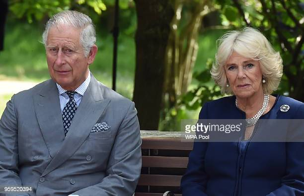 Prince Charles Prince of Wales and Camilla Duchess of Cornwall attend the dedication service for the National Memorial to British Victims of Overseas...