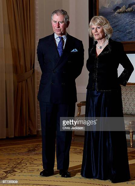 Prince Charles Prince of Wales and Camilla Duchess of Cornwall attend a Banquet at the Presidential Palace on March 15 2010 in Warsaw Poland Prince...