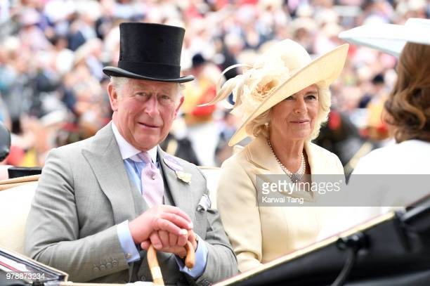 Prince Charles Prince of Wales and Camilla Duchess of Cornwall attend Royal Ascot Day 1 at Ascot Racecourse on June 19 2018 in Ascot United Kingdom