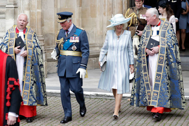 GBR: The Prince Of Wales And The Duchess Of Cornwall Attend The Battle Of Britain 81st Anniversary Service Of Thanksgiving And Rededication