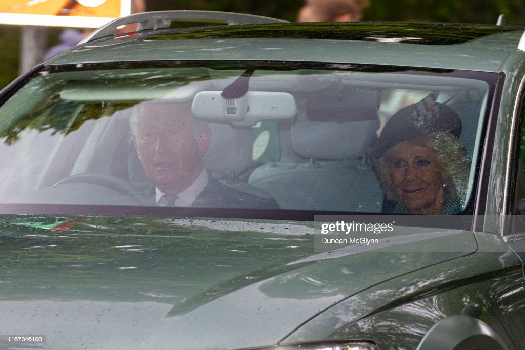 Royal Family Members Attend Crathie Church Near Balmoral : News Photo