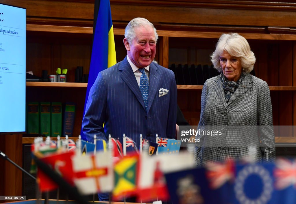 GBR: The Prince Of Wales & Duchess Of Cornwall Visit The Supreme Court