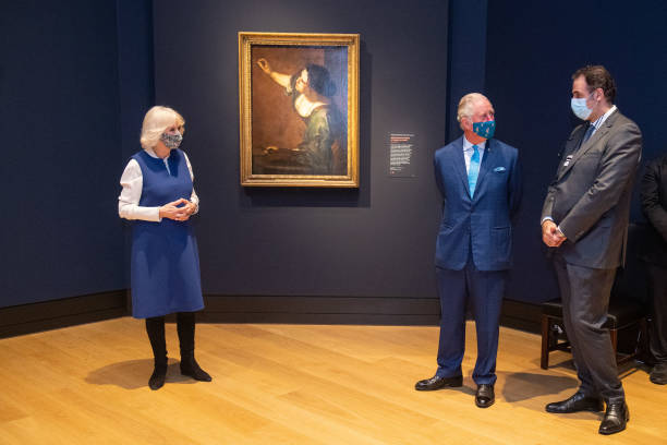 GBR: The Prince Of Wales And The Duchess Of Cornwall Visit National Gallery