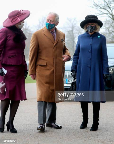 Prince Charles, Prince of Wales and Camilla, Duchess of Cornwall during a visit in celebration of the 800th anniversary of Salisbury Cathedral on...