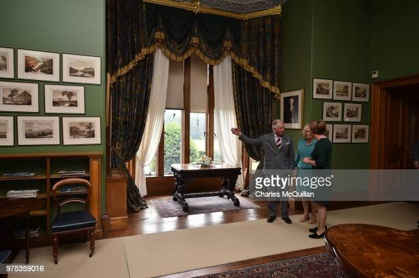 Prince Charles Prince of Wales and Camilla Duchess of Cornwall during a visit to Muckross House on June 15 2018 in Killarney Ireland The Prince of...