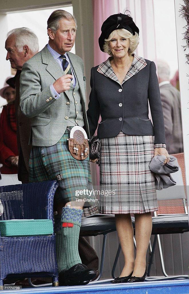 Royals At Braemar Games Highland Gathering : News Photo