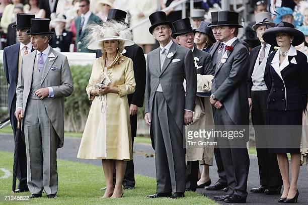 Prince Charles Prince of Wales and Camilla Duchess of Cornwall join Prince Andrew Duke of York and Prince Philip Duke of Edinburgh for the first day...