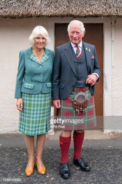 Prince Charles, Prince of Wales and Camilla, Duchess of Cornwall, known as the Duke and Duchess of Rothesay when in Scotland, during a visit to...