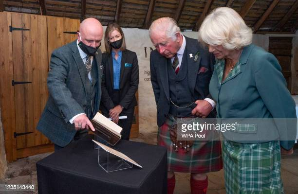 Prince Charles, Prince of Wales and Camilla, Duchess of Cornwall, known as the Duke and Duchess of Rothesay when in Scotland, take a look at the...