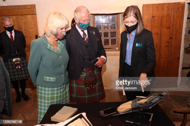 Prince Charles, Prince of Wales and Camilla, Duchess of Cornwall, known as the Duke and Duchess of Rothesay when in Scotland, tour Robert Burns'...