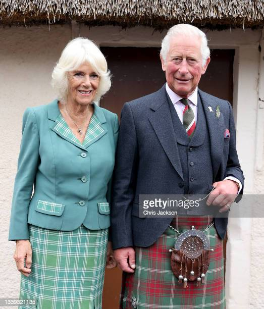 Prince Charles, Prince of Wales and Camilla, Duchess of Cornwall, known as the Duke and Duchess of Rothesay when in Scotland, visit Robert Burn's...