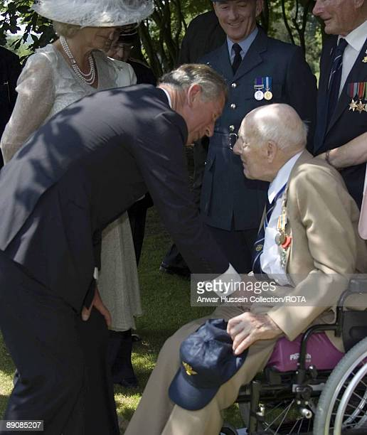 Prince Charles, Prince of Wales and Camilla, Duchess of Cornwall meet Britain's oldest surviving WW1 veteran, Henry Allingham, at the Somme 90th...