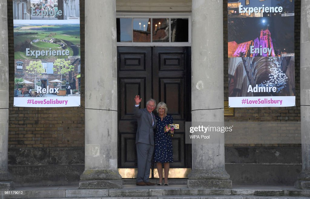 The Prince Of Wales And Duchess Of Cornwall Visit Salisbury : News Photo