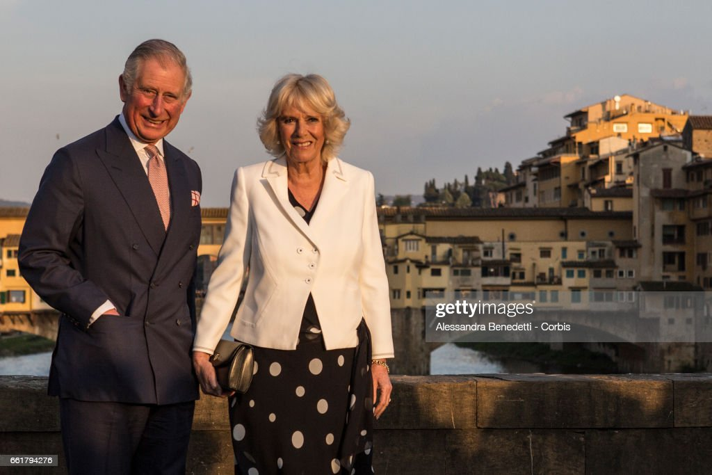 The Prince Of Wales And Duchess Of Cornwall Visit Italy - Day 1 : Nieuwsfoto's
