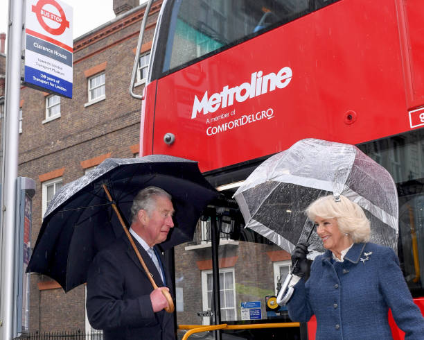 GBR: The Prince Of Wales And The Duchess Of Cornwall Visit The London Transport Museum