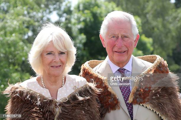 Prince Charles Prince of Wales and Camilla Duchess of Cornwall visit Tuahiwi Marae on November 22 2019 in Christchurch New Zealand The Prince of...