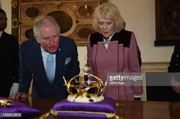 Prince Charles Prince of Wales and Camilla Duchess of Cornwall visit The Tower of London to mark 535 years since the creation of Yeoman Warders and...