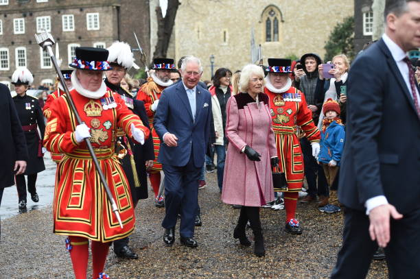 GBR: The Prince Of Wales And The Duchess Of Cornwall Visit The Tower of London