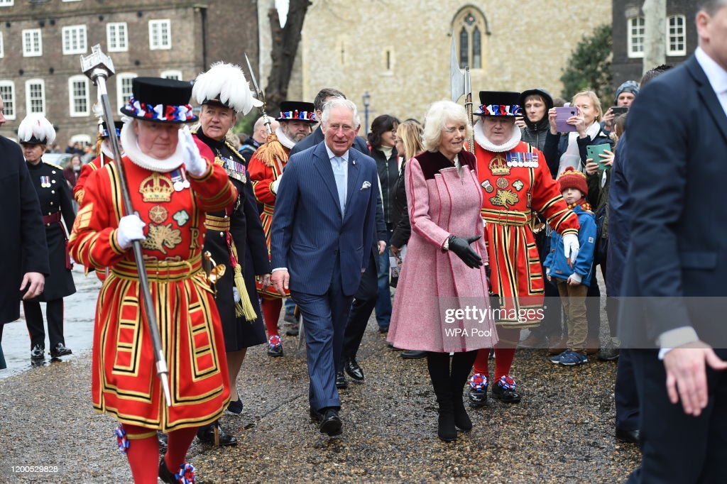 The Prince Of Wales And The Duchess Of Cornwall Visit The Tower of London : News Photo