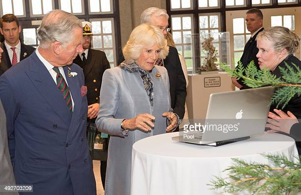 Prince Charles Prince of Wales and Camilla Duchess of Cornwall visit the Winnie the Pooh gallery to mark the centenary of Winnie The Pooh meet...