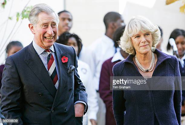 Prince Charles Prince of Wales and Camilla Duchess of Cornwall visit SEED School on the second day of their eight day visit to the United States on...