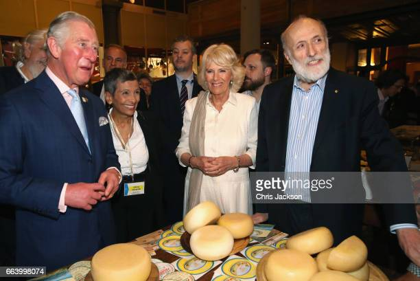 Prince Charles Prince of Wales and Camilla Duchess of Cornwall visit Sant'Ambrogio Market to celebrate the Slow Food movement and meet the founder...
