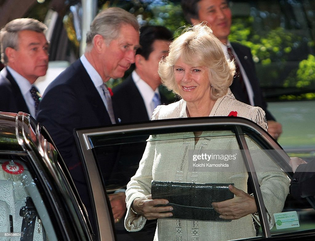 TRH Prince Charles, Prince of Wales and Camilla, Duchess of Cornwall visit Keio University on October 28, 2008 in Tokyo, Japan. The Prince and the Duchess are in Japan to celebrate the 150th anniversary of diplomatic relations with the United Kingdom.
