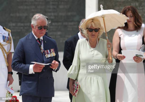 Prince Charles Prince of Wales and Camilla Duchess of Cornwall visit the Commonwealth War Graves on May 10 2018 in Athens Greece Prince Charles...