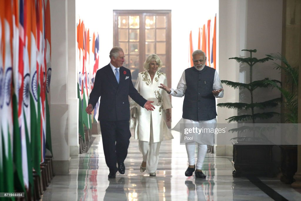 The Prince Of Wales & Duchess Of Cornwall Visit Singapore, Malaysia, Brunei And India - Day 9 : News Photo