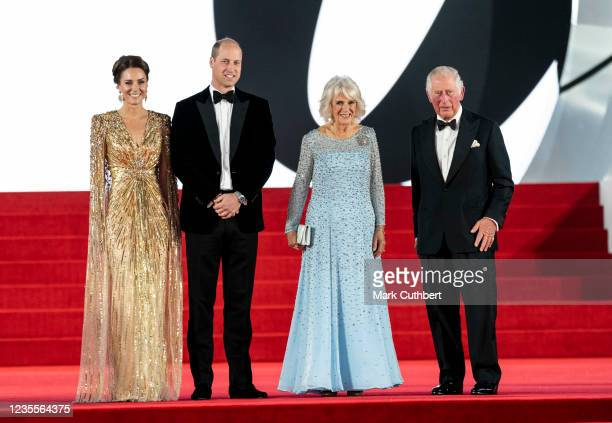 Prince Charles, Prince of Wales and Camilla, Duchess of Cornwall with Catherine, Duchess of Cambridge and Prince William, Duke of Cambridge attend...