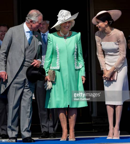 Prince Charles Prince of Wales and Camilla Duchess of Cornwall with Meghan Duchess of Sussex during The Prince of Wales' 70th Birthday Patronage...