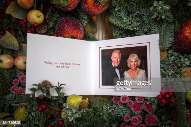 Prince Charles Prince of Wales and Camilla Duchess of Cornwall's 2017 Christmas card pictured in Clarence House on December 15 2017 in London England...