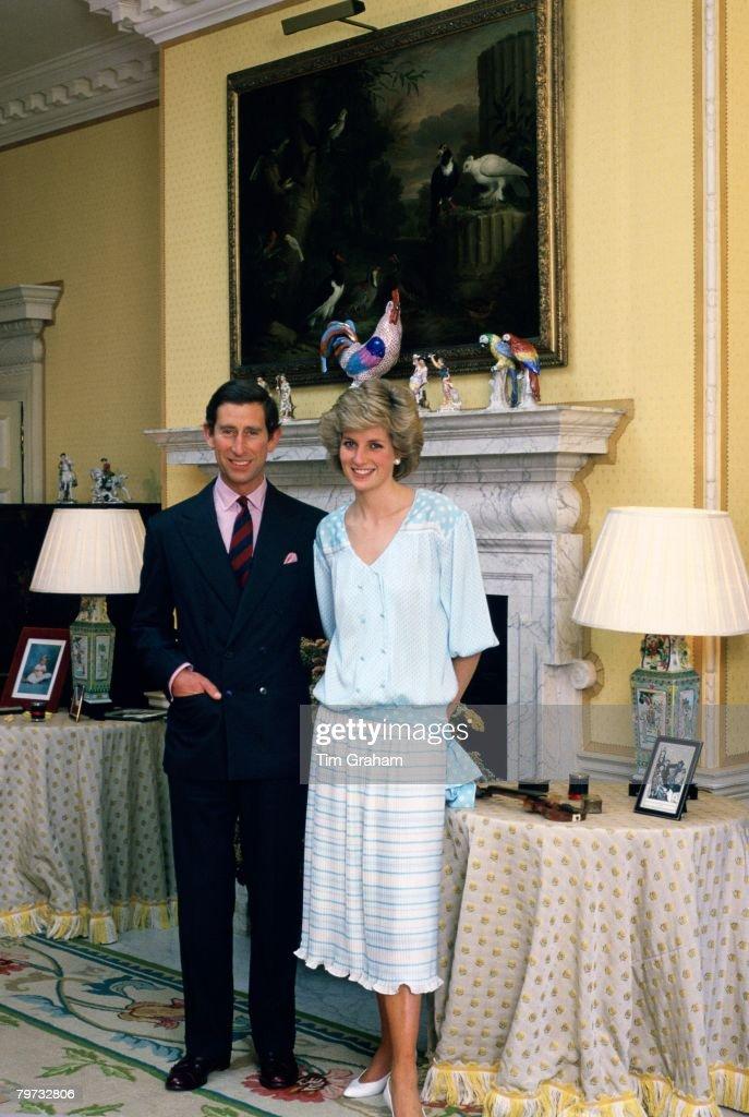 Prince Charles, Prince of Wales and Diana, Princess of Wales : News Photo