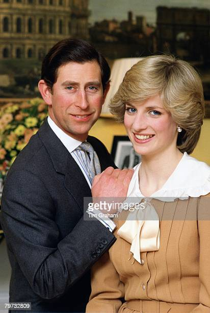 Prince Charles Prince of Wales and Diana Princess of Wales at home in Kensington Palace